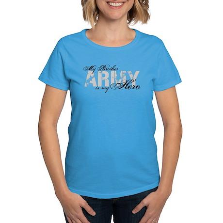 Brother is my Hero ARMY Women's Dark T-Shirt