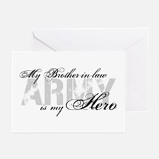 Brother-in-law is my Hero ARMY Greeting Cards (Pk