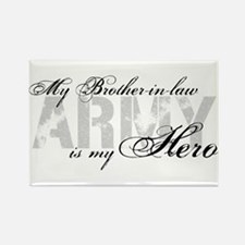 Brother-in-law is my Hero ARMY Rectangle Magnet