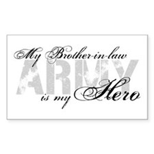Brother-in-law is my Hero ARMY Rectangle Decal
