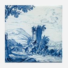 Dutch Blue & White Pastoral Tile Coaster