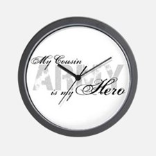Cousin is my Hero ARMY Wall Clock