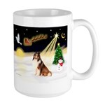 Night Flight/Sheltie #7 Large Mug