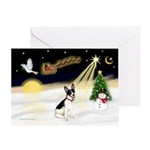 Night Flight/Rat Ter #1 Greeting Card