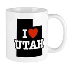 I Love Utah Small Mug