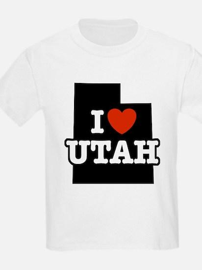 I Love Utah Kids T-Shirt