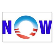 Obama NOW Rectangle Decal