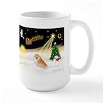 Night Flight/Pomeranian #2 Large Mug