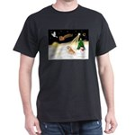 Night Flight/Pomeranian #2 Dark T-Shirt