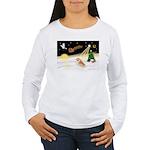 Night Flight/Pomeranian #2 Women's Long Sleeve T-S