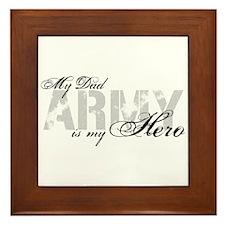 Dad is my Hero ARMY Framed Tile