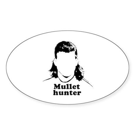 Mullet Hunter ~ Oval Sticker