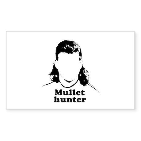 Mullet Hunter ~ Rectangle Sticker