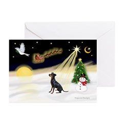 Night Flight/Manchester T Greeting Cards (Pk/10)