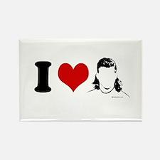 I Love Mullets ~ Rectangle Magnet