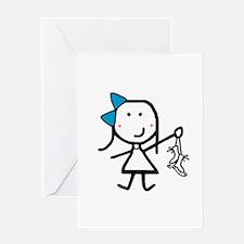 Girl & Ice Skating Greeting Card