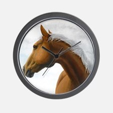 Palomino Stallion Wall Clock