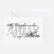 Daughter-in-law is my Hero ARMY Greeting Cards (Pk