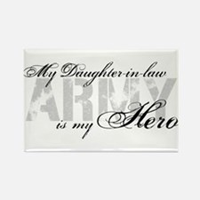 Daughter-in-law is my Hero ARMY Rectangle Magnet
