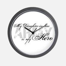 Daughter-in-law is my Hero ARMY Wall Clock