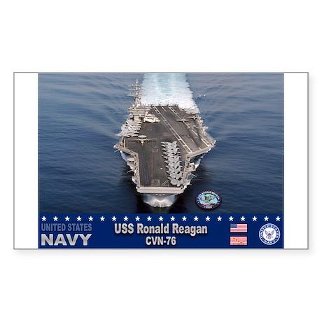 USS Ronald Reagan CVN-76 Rectangle Sticker