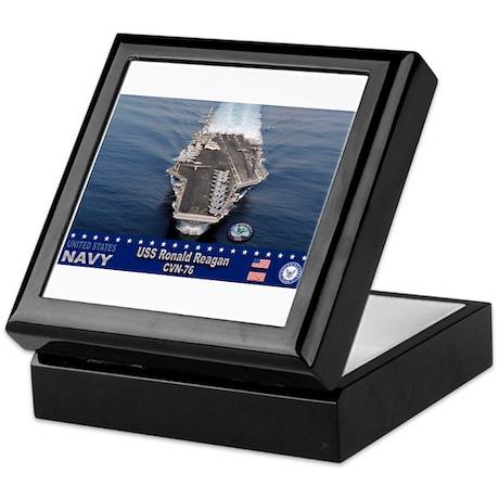 USS Ronald Reagan CVN-76 Keepsake Box