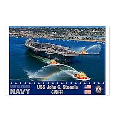 USS John C. Stennis CVN-74 Postcards (Package of 8