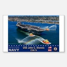 USS John C. Stennis CVN-74 Rectangle Decal