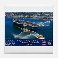 USS John C. Stennis CVN-74 Tile Coaster