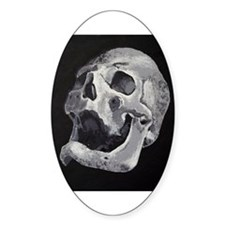 SKULL OIL Oval Decal