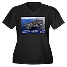 USS John C. Stennis CVN-74 Women's Plus Size V-Nec