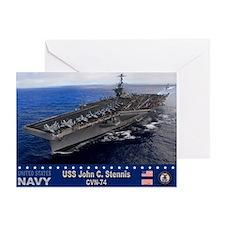 USS John C. Stennis CVN-74 Greeting Card