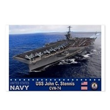 USS John C. Stennis CVN-74 Postcards (Package of 8