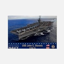 USS John C. Stennis CVN-74 Rectangle Magnet