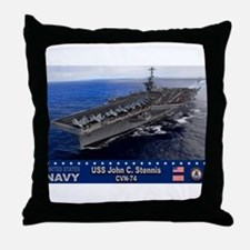 USS John C. Stennis CVN-74 Throw Pillow