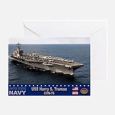 USS Harry S. Truman CVN-75 Greeting Card