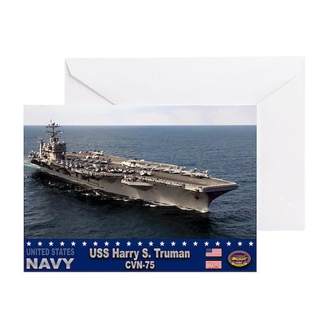 USS Harry S. Truman CVN-75 Greeting Cards (Pk of 1