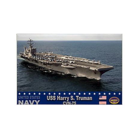 USS Harry S. Truman CVN-75 Rectangle Magnet (10 pa