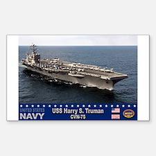 USS Harry S. Truman CVN-75 Rectangle Decal