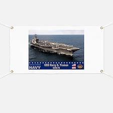 USS Harry S. Truman CVN-75 Banner