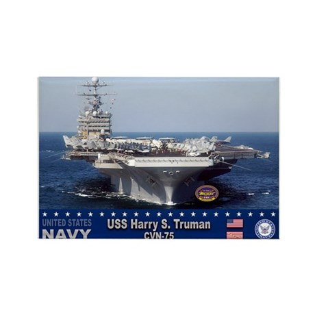 USS Harry S. Truman CVN-75 Rectangle Magnet