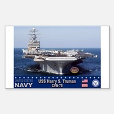 USS Harry S. Truman CVN-75 Rectangle Decal