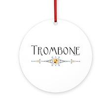 Trombone Ornament (Round)