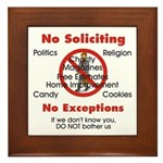 No Soliciting Sign #1