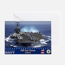 USS Carl Vinson CVN-70 Greeting Card