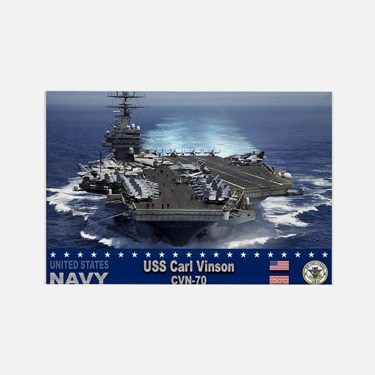 USS Carl Vinson CVN-70 Rectangle Magnet