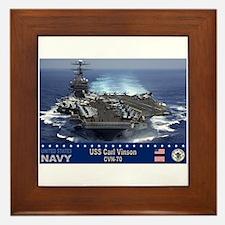 USS Carl Vinson CVN-70 Framed Tile