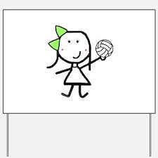 Girl & Volleyball Yard Sign