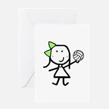 Girl & Volleyball Greeting Card