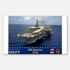 USS America CV-66 Rectangle Decal